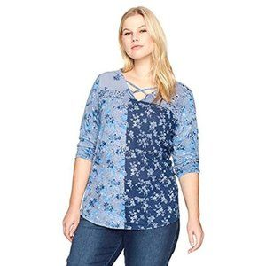 Lucky Brand Madeline Floral T-Shirt Knit Top Plus